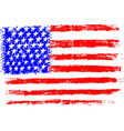 American flag pencil drawing kid sty vector image