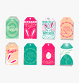 Easter gift tag set with vector image
