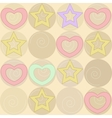 pattern with stars and hearts vector image