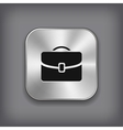 Case icon - metal app button vector image vector image