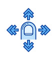 pan line icon vector image