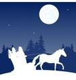Santa goes on vector image vector image