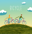 summer bicycle vector image