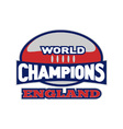 england rugby champions vector image vector image