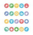 Electronics Colored Icons 11 vector image