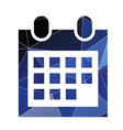 calendar icon Abstract Triangle vector image