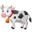 Cartoon Happy cartoon cow vector image