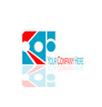 creative business logo vector image