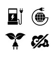 eco fuel simple related icons vector image