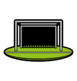 goal net soccer or football related icon image vector image