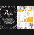 italian food menu 6 vector image