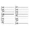 scissor dotted line set vector image