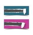 Set of banners torn paper with scroll and vector image