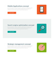 Website Headers or Promotion Banners Templates and vector image