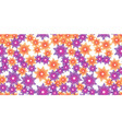 orange and violet flowers vector image