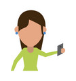 person using cellphone avatar icon image vector image