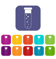 blood test icons set flat vector image vector image
