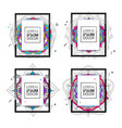 set of frame for your text vector image