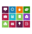Business color icons vector image