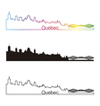 Quebec skyline linear style with rainbow vector image vector image