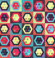 colored vintage rhombus seamless pattern with vector image