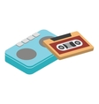 Cassette Tape isometric 3d icon vector image