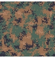 Digital Woodland Camouflage Seamless Pattern vector image