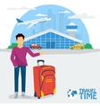Banner - time to travel vector image