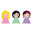 Sweet beautiful Cartoon Angels vector image vector image