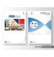 Corporate business flyer layout design vector image
