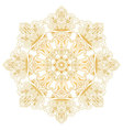 Ethnic decorative design element Mandala symbol vector image