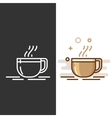 Glass coffee cup icon vector image