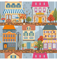 Great city map creatorSeamless pattern map Houses vector image