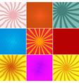 set ofpop art backgounds vector image