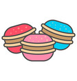 tasty sweet biscuit icon vector image