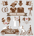 vintage wedding set vector image
