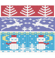 knitted christmas ornaments vector image vector image