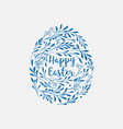 happy easter greeting card with lettering and vector image vector image