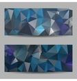 triangle banner dark blue silver vector image
