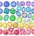 Seamless scattered gems rhinestones vector image