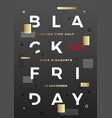 black friday swiss style typography poster vector image