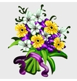 Bouquet of flowers for decor other design needs vector image