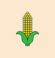 corn cob icon autumn harvest concept vector image