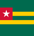 flag in colors of togo image vector image