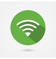 Flat icon fior free wifi connection vector image