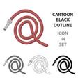 hose icon icon cartoon single silhouette vector image