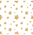 seamless background with colorful stars vector image