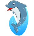 Standing Dolphin vector image