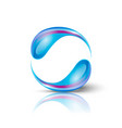 two blue drops making circle vector image