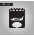 black and white style icon airplane timetable vector image